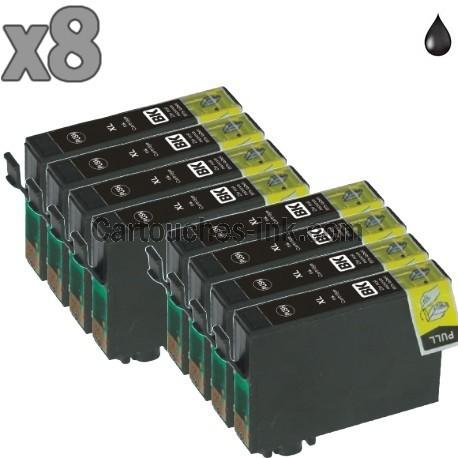 8 cartouches noir compatibles Epson T1631