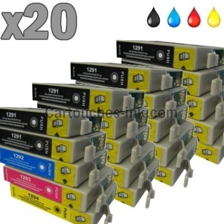 20 cartouches compatibles Epson T1291 à T1294 lot T1295