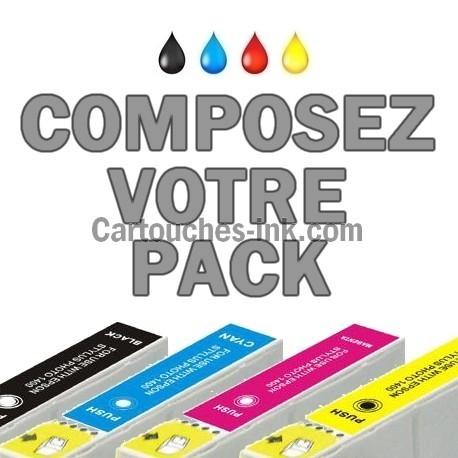 Cartouches compatibles Epson T1281, T1282, T1283, T1284, lot T1285