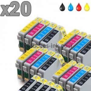 20 cartouches compatibles Epson T0711 à T0714 lot T0715