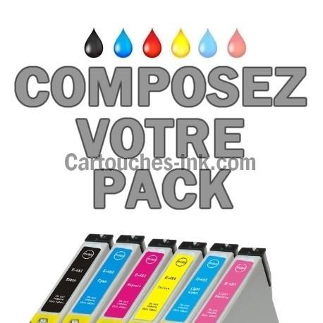cartouches compatibles Epson T0481, T0482, T0483, T0484, T0485, T0486, lot T0487