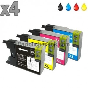 4 cartouches compatibles Brother LC1220/LC1240/LC1280