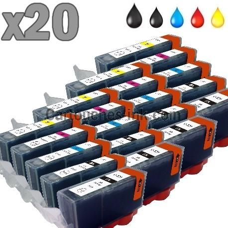 20 cartouches compatibles Canon PGI-520 CLI-521