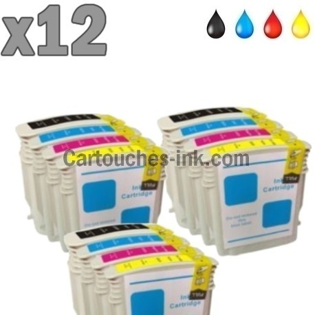 12 cartouches compatibles HP 88
