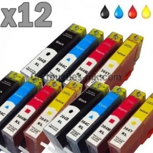 12 cartouches compatibles HP 364XL