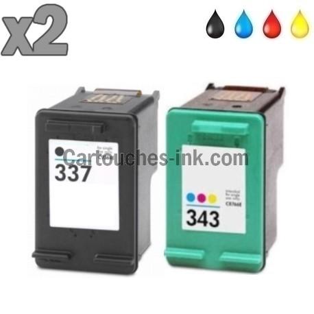 2 cartouches compatibles HP337 et HP343
