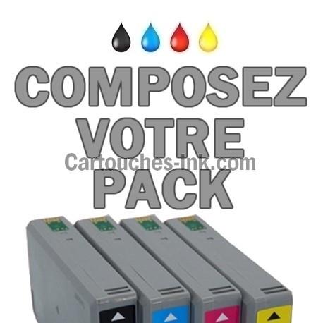 Cartouches compatibles Epson T7021, T7022, T7023, T7024, lot T7025